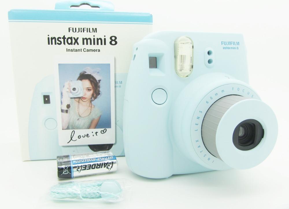 fujifilm instax mini 8 instant film camera blue. Black Bedroom Furniture Sets. Home Design Ideas